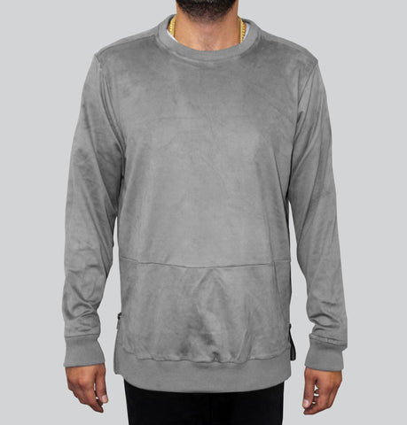 The Portis Ultra Suede Grey Sweatshirt