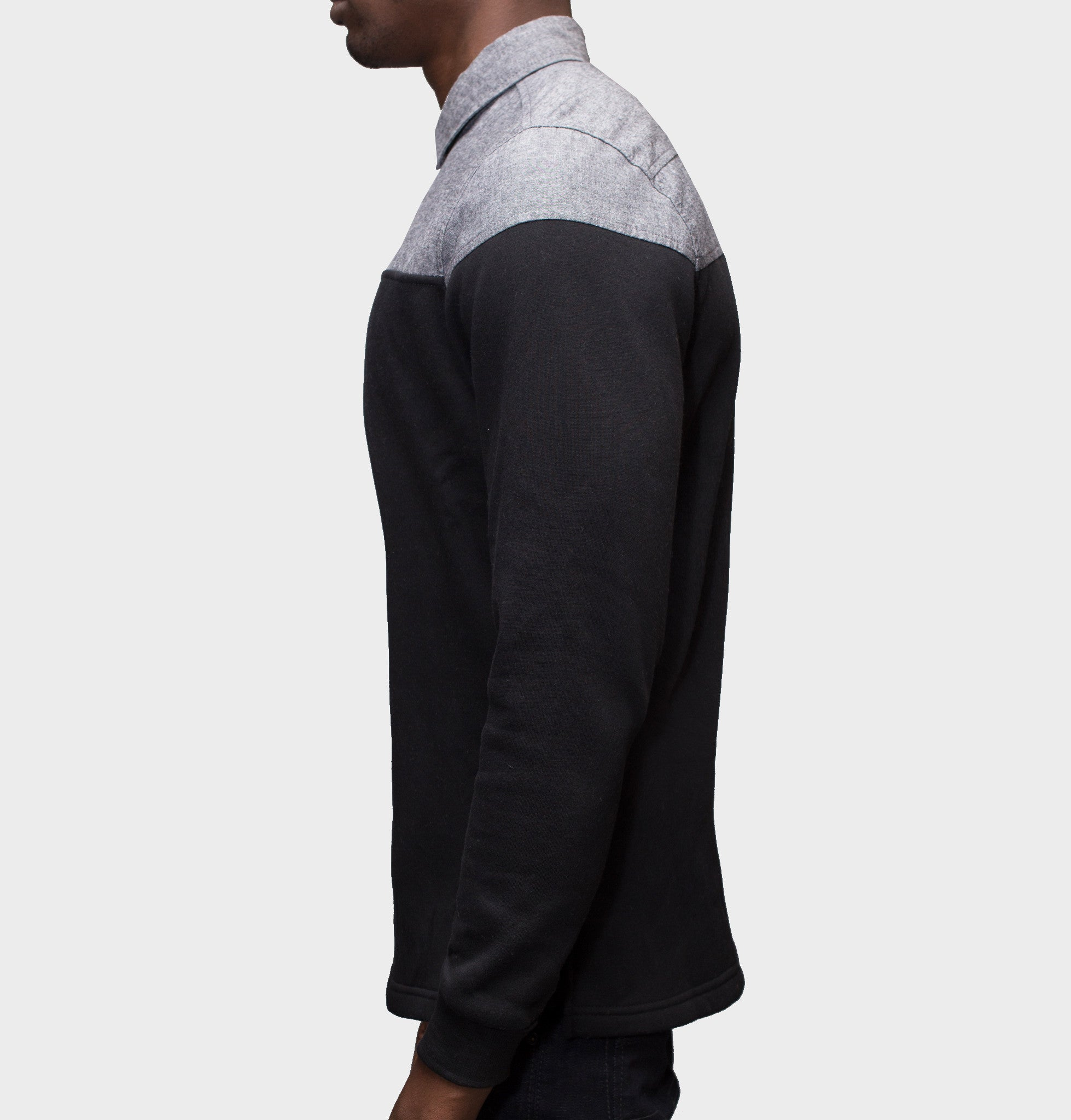 Sever Black Chambray Pullover Buttondown