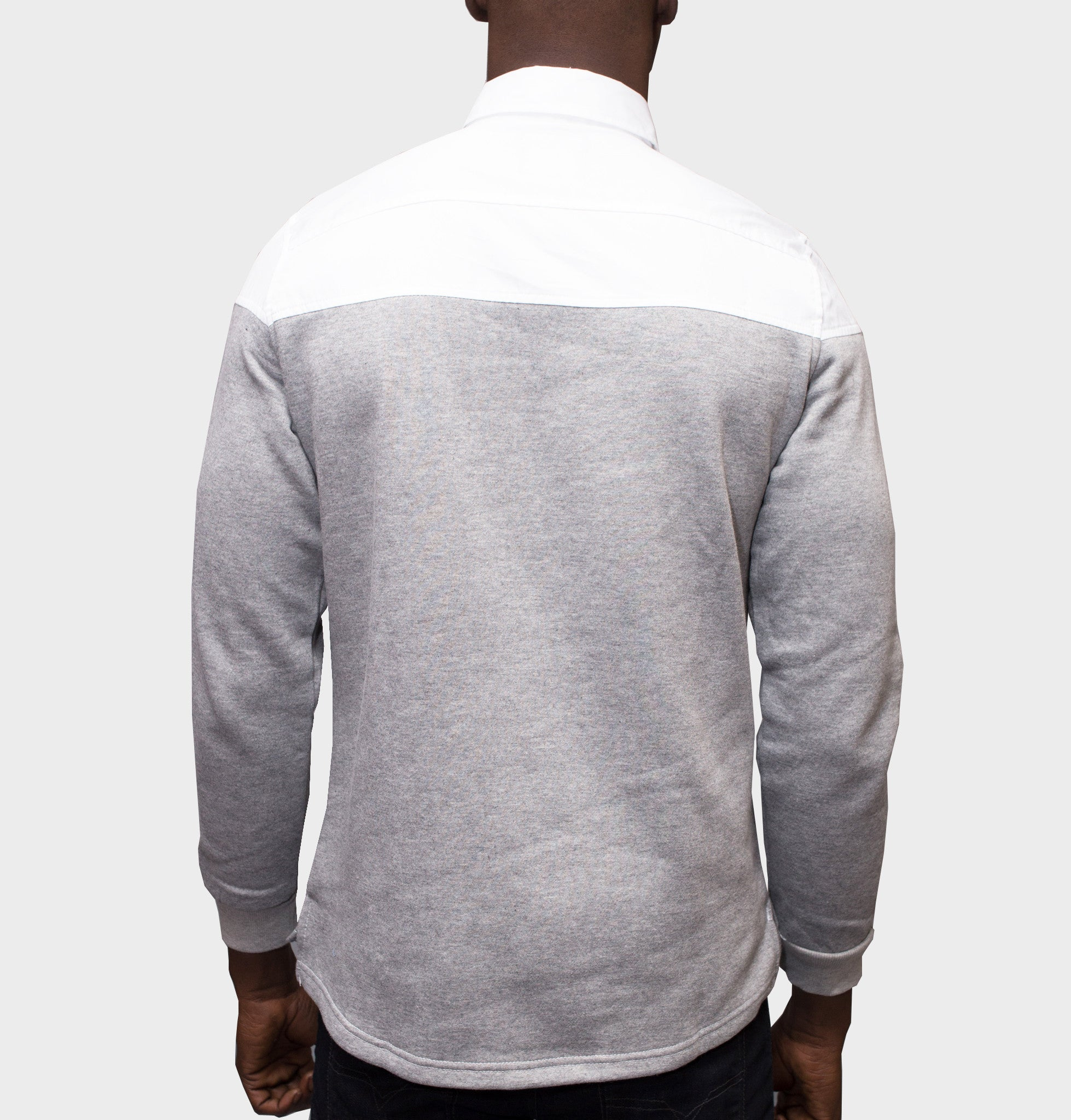 Sever White Pullover Buttondown