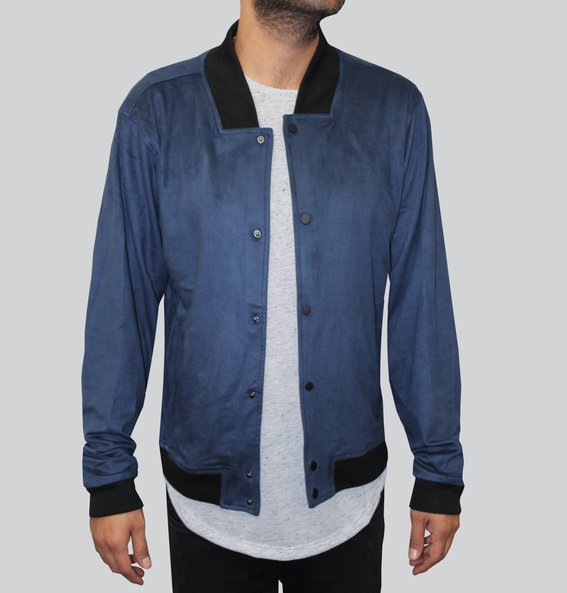 The Sway Ultra Suede Navy Jacket