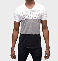 Tres White V-Neck Graphic Tee