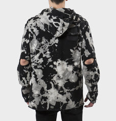 West Oversized Bleached Black Hoodie