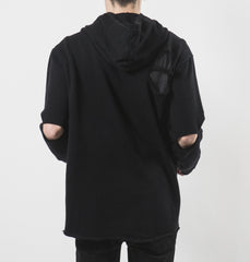 West Oversized Black Hoodie