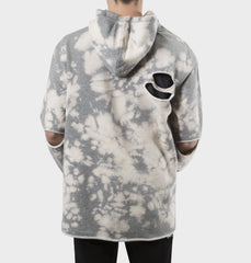West Oversized Bleached Grey Hoodie