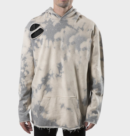 West Oversized Grey Bleached Hoodie
