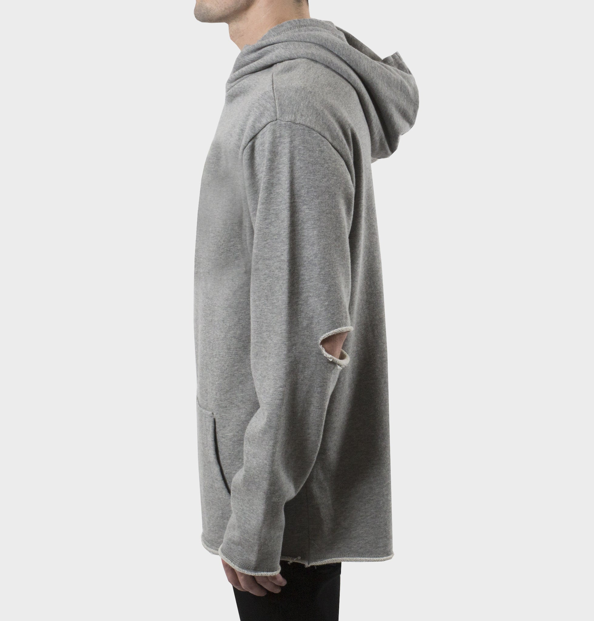 West Oversized Grey Hoodie