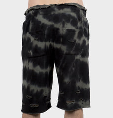 Woods Black Tie-Dye Shorts