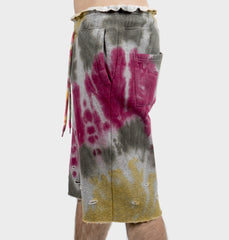 Woods Burgundy Tie-Dye Shorts