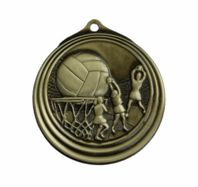 Netball Medals - Gold, Silver or Bronze