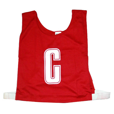Netball Bib Set - Polyester - Red