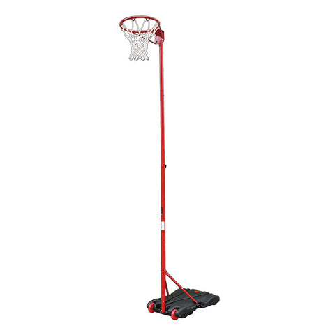 Portable Netball Post - Water Base Red