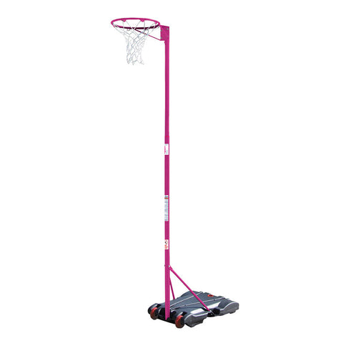Portable Netball Post - Water Base Pink