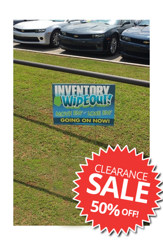 "18"" x 24"" Frontage Signs - CLEARANCE"