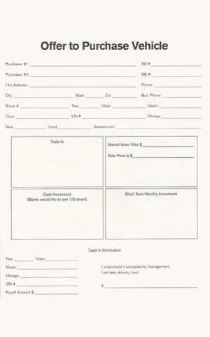 4 Square Carbon Copy Forms