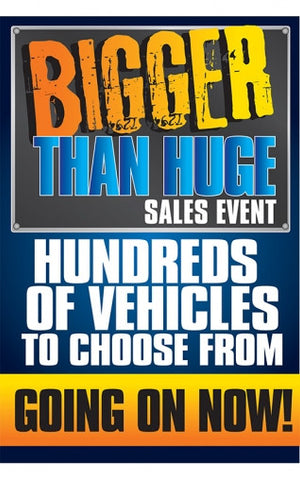 Bigger Than Huge Sales Event