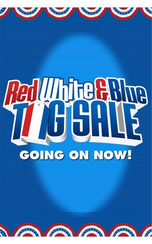 Red White & Blue Tag Sale