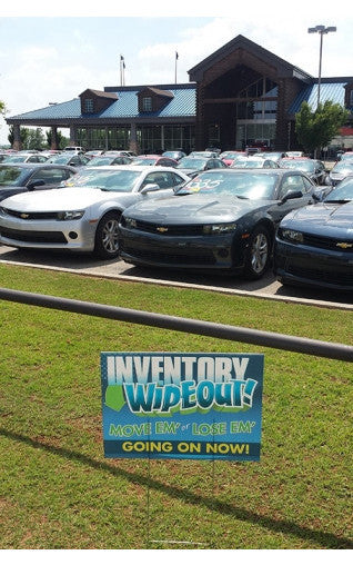 Car Showroom Yard Signs