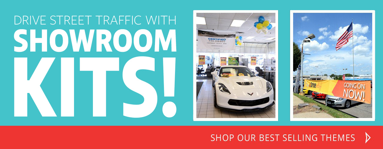 Drive Street Traffic to Your Dealership with Best Selling Showroom Kits!