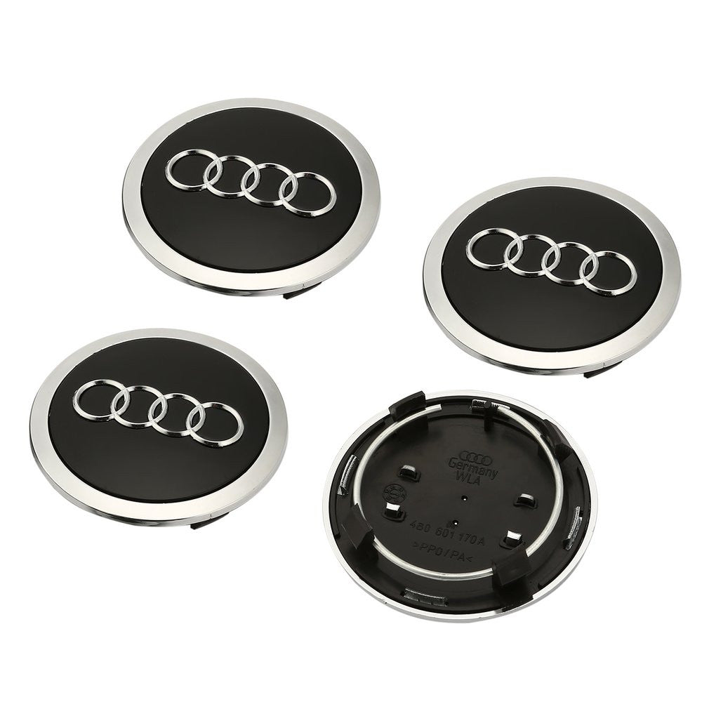 4Pcs/Set Wheel Center Hub Caps for Audi 4Pcs/Set Wheel Center Hub Caps for Audi, Center Cap, AutoCapshack.com, AutoCapshack.com - American Eagle Wheel Corp.