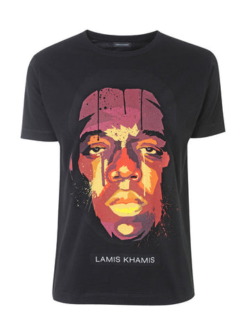 Biggie T-Shirt in Black - LAMIS KHAMIS