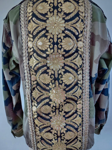Camo Jacket with Gold detail - LAMIS KHAMIS