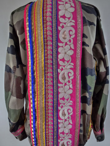 Camo jacket with multicoloured detail - LAMIS KHAMIS