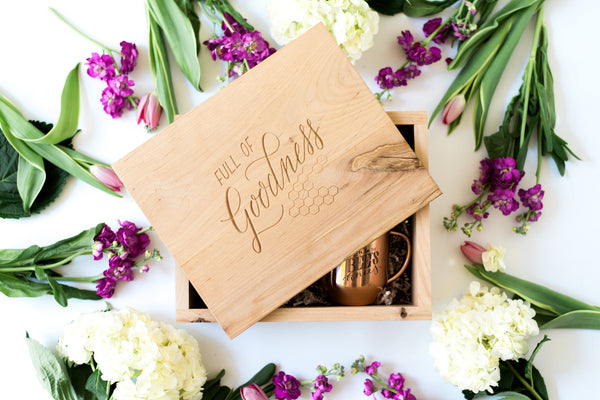 Custom Wooden Keepsake Bee's Knees Box