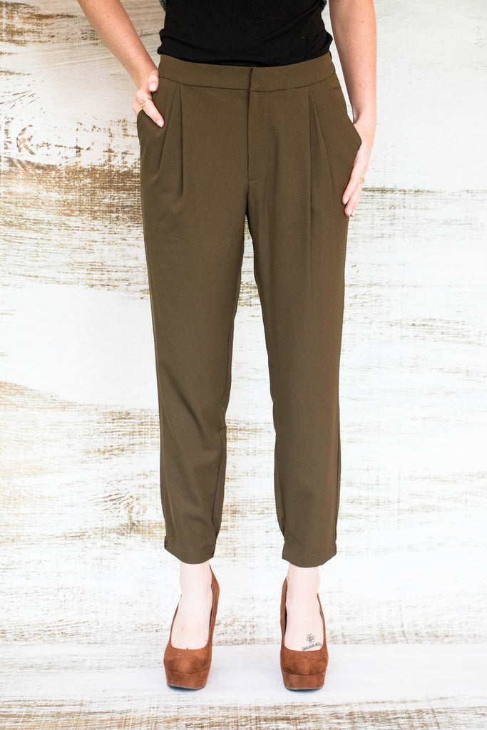 Girl, You're So On-Trend Olive Harem Pant