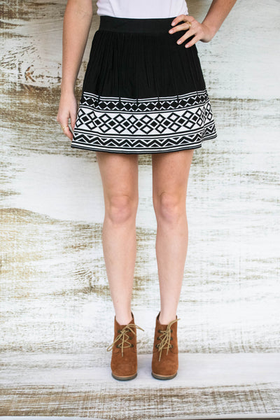 Take A Bow Tribal Knit Skirt