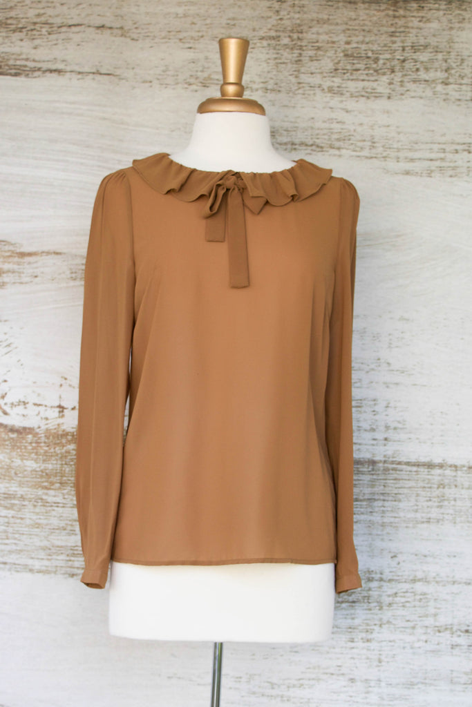 Sheer Vintage Safari Blouse
