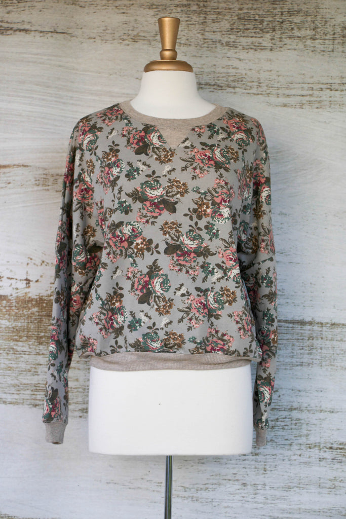 Secret Garden Grey Sweatshirt