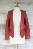 Zip It Good Leather Blazer Jacket