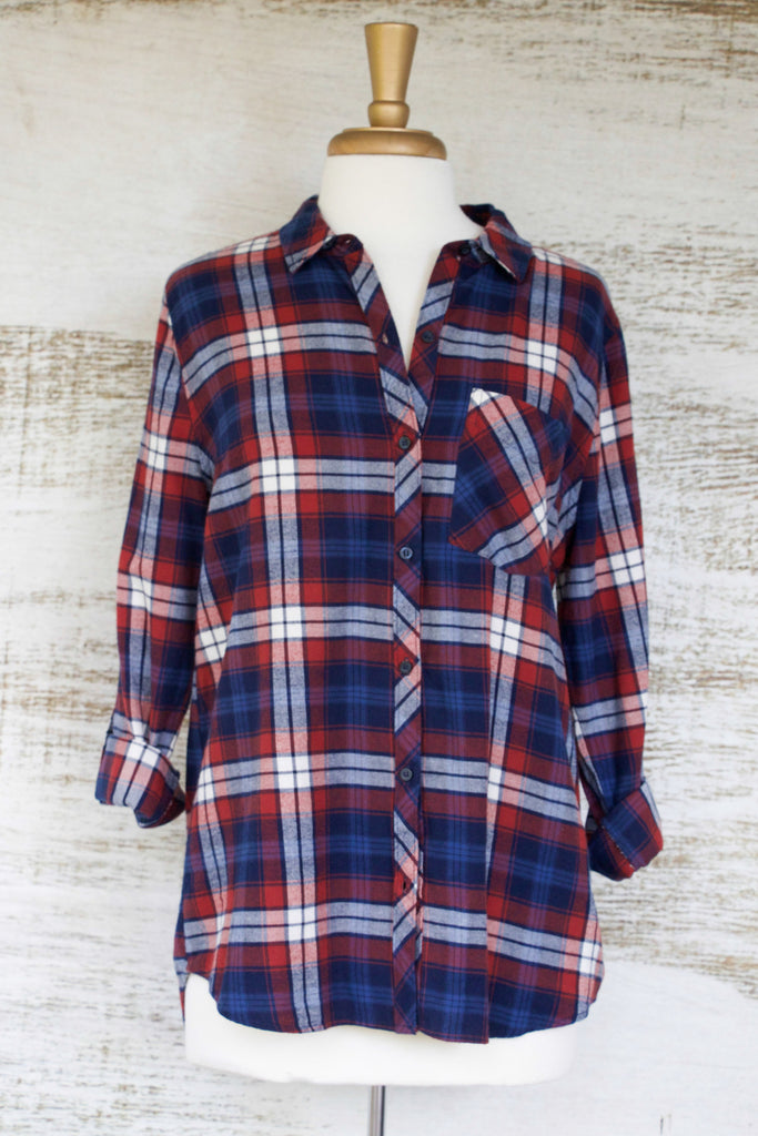Chop It Like It's Hot Flannel Top