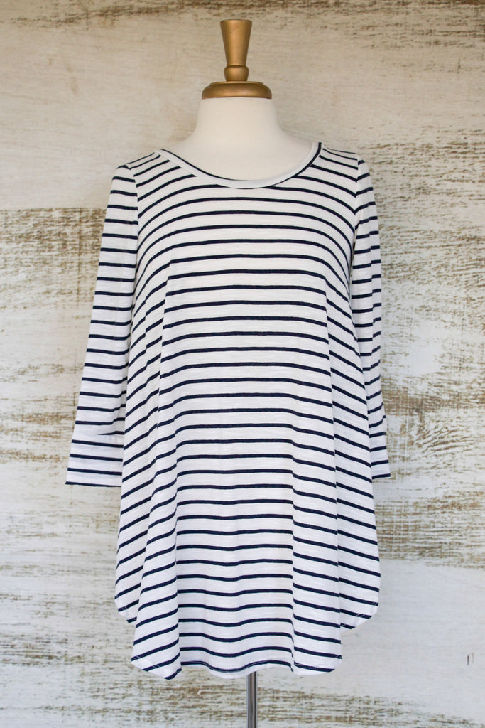 You're So Classic Striped Tunic Navy