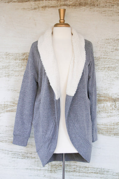 Yes Please Sheepskin Knit Jacket