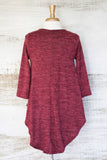 Miss Popular BabyDoll Tunic Wine