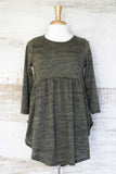 Miss Popular BabyDoll Tunic Olive