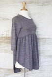 Miss Popular BabyDoll Tunic Grey