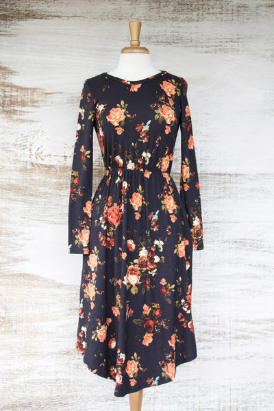 Best Seller Black Floral Dress