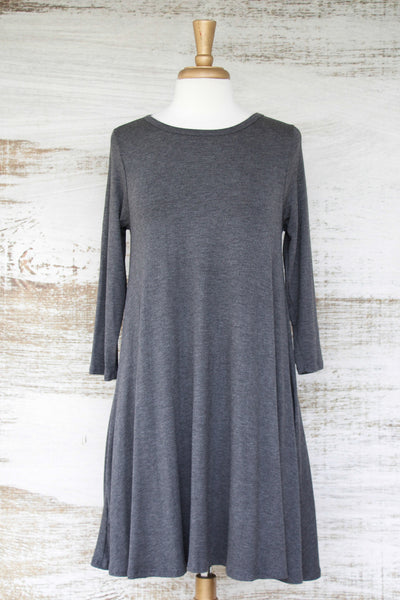 Easy Like Sunday Morning Dress With Pockets Grey