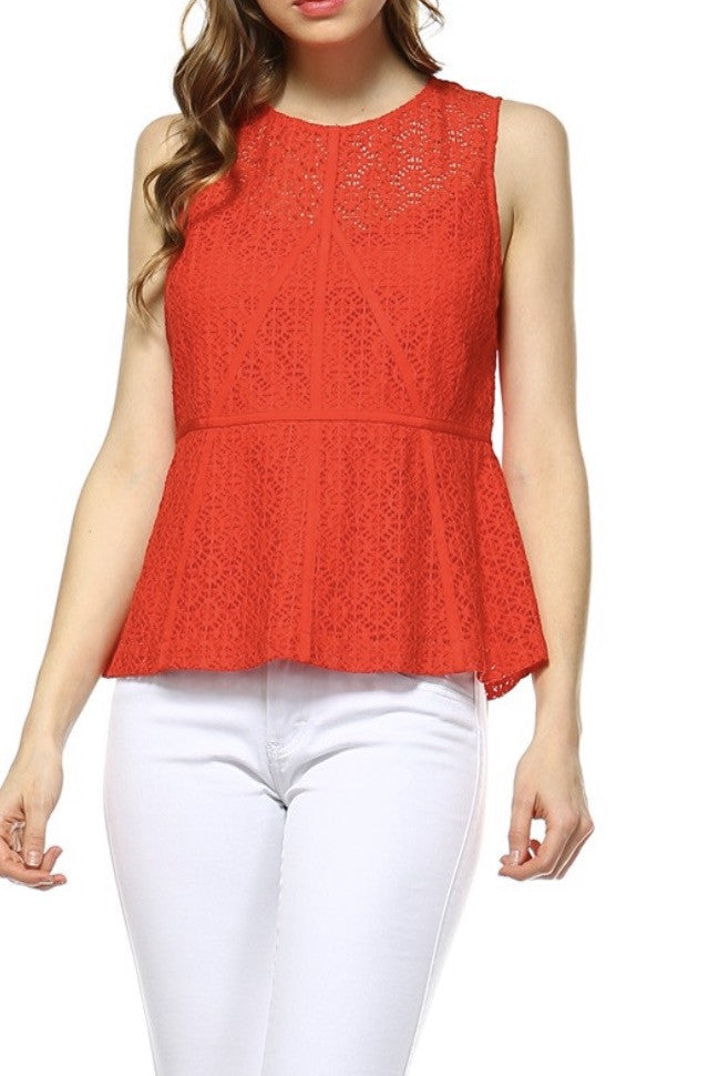 American Honey Peplum Top