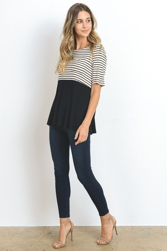 The Nicole Striped Top