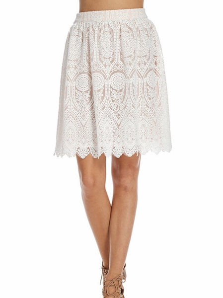 Hamptons Lace Skirt