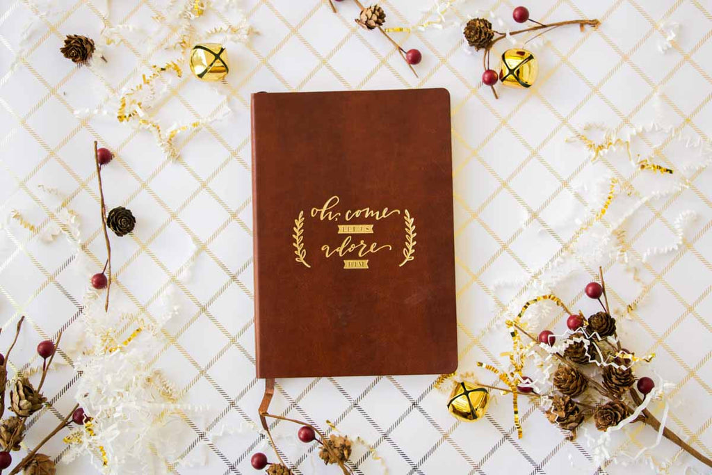 Gold Foil Leather Journal