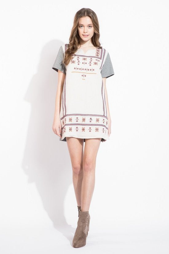Embroidered Heaven Shift Dress
