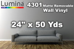"Lumina® 4301 Satin Removable Vinyl 24"" x 50 Yards"