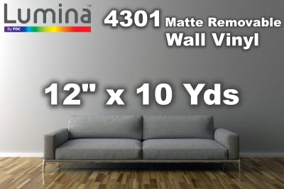Lumina® 4301 Satin Removable Vinyl 12