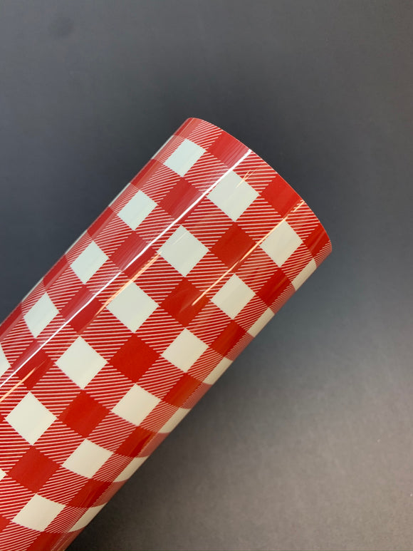 Buffalo Plaid HTV - Red/White