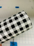 Buffalo Plaid HTV - White