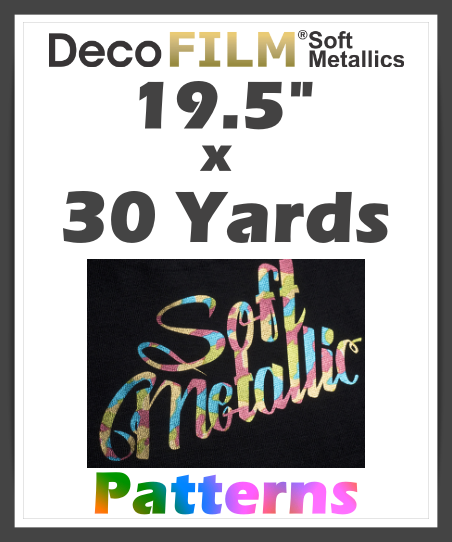 DecoFilm Soft Metallic Patterns - Heat Transfer Vinyl - 19.5